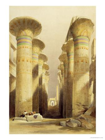 Central Avenue of the Great Hall of Columns, Karnak, from Egypt and Nubia, Vol.1