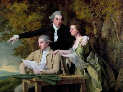 The Rev. D'Ewes Coke, His Wife Hannah and Daniel Parker Coke, M.P., c.1780-82