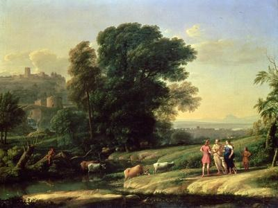 Landscape with Cephalus and Procris Reunited by Diana, 1645