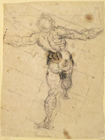 Study of a Male Nude from Behind, c.1577