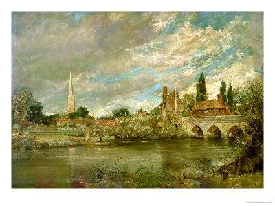 The Bridge of Harnham and Salisbury Cathedral, c.1820