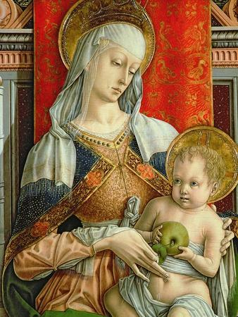 Madonna and Child, Detail from the Sant'Emidio Polyptych, 1473