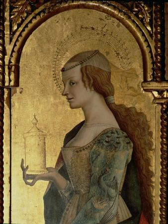 St. Mary Magdalene, Detail from the Santa Lucia Triptych