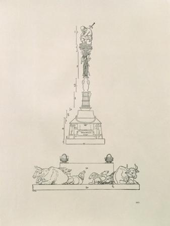 Monument Commemorating the Victory over the Peasants, from the Manual of Measurement, Pub. 1525