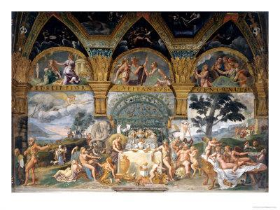 Bbanquet Celebrating the Marriage of Cupid and Psyche from the Sala Di Amore E Psiche, 1527-31