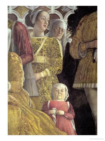 Dwarf and Courtiers, Family and Court of Marchese Ludovico Gonzaga III of Mantua, c.1465-74