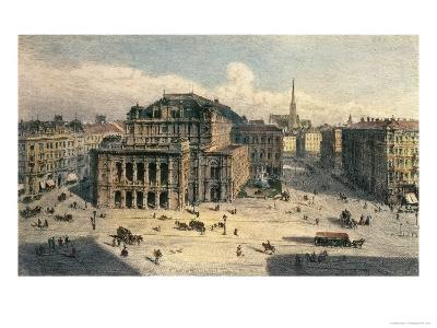 Vienna State Opera House, c.1869
