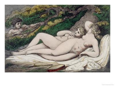 Lesbian Lovers in a Wood, 1808-17