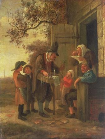 Pedlar Selling Spectacles Outside a Cottage, c.1650-53