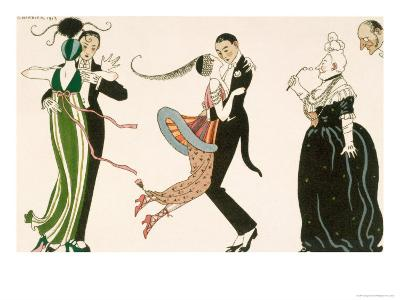 Madness of the Day, Engraved by H. Reidel For Friends of the Journal Des Dames et Des Modes, 1913