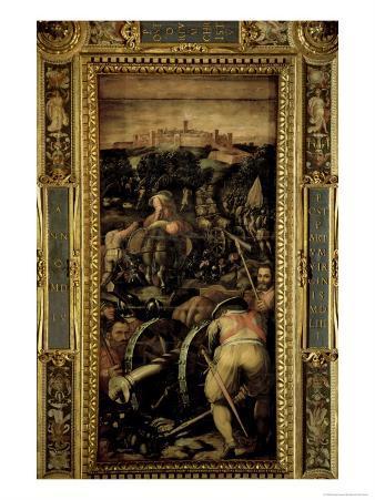 The Capture of Monteriggioni from the Ceiling of the Salone Dei Cinquecento, 1565