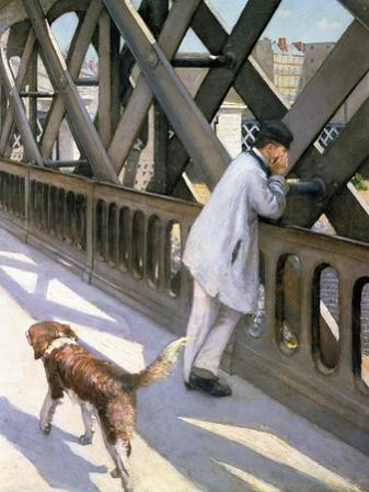 Le Pont de L'Europe: Detail of a Resting Man and a Dog, 1876