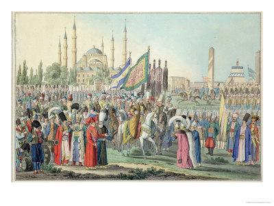 The Turkish Sultan Reviewing His Janissaries