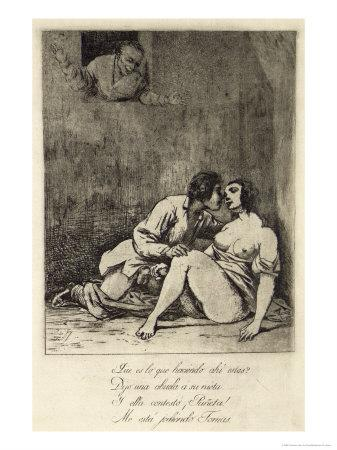 Two Lovers in a Courtyard, 1880's