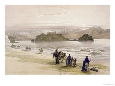 Isle of Graie, Gulf of Akabah, Arabia Petraea, 1839, Plate 108, Vol.III