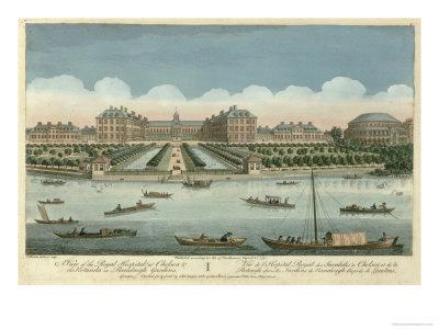 Royal Hospital at Chelsea and the Rotunda in Ranelaigh Gardens, Pub. by Robert Sayer, 1751