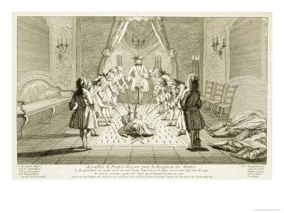 Assembly of Free Masons, from The Ceremonies of Religion and Custom, c.1733