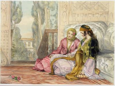 The Harem, Plate 1 from Illustrations of Constantinople, Engraved by the Artist, 1837