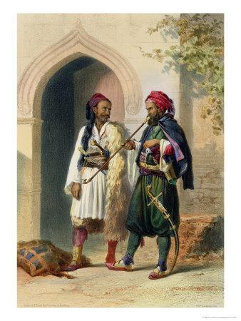 Arnaout and Osmanli Soldiers, Alexandria, the Valley of the Nile, c.1848