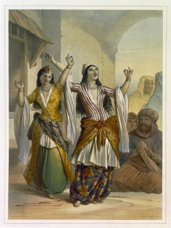 Egyptian Dancing Girls Performing the Ghawazi, Rosetta, The Valley of the Nile