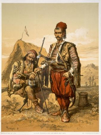 Turkish Foot Soldiers in the Ottoman Army, Pub. by Lemercier, c.1857