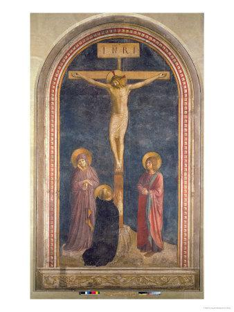 Crucifixion, Virgin, SS John the Evangelist and Dominic from the Convent of San Marco, c.1442