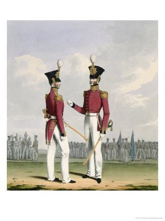 Field Officers, Royal Marines, Plate 2 Costume of the Royal Navy and Marines, Engraved c.1830-37