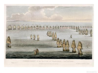 Battle of Trafalgar, Oct. 21, 1805, Engraved by Sutherland For Jenkins's Naval Achievements, c.1817