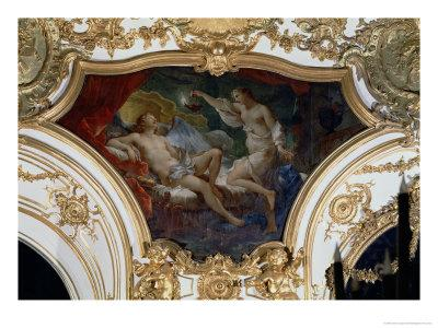 Psyche and Cupid, Ceiling Panel from the Salon de La Princesse