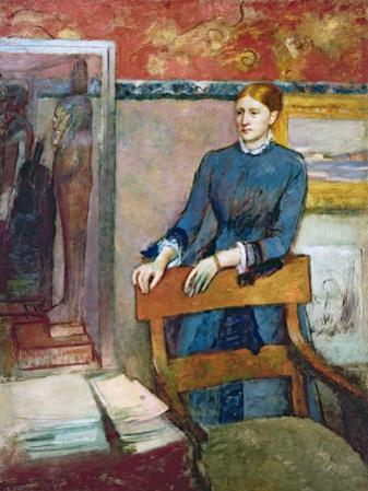 Helene Rouart in Her Father's Study, c.1886