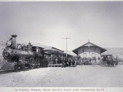 The Union Pacific Railroad Depot at La Grande, Oregon, c.1870