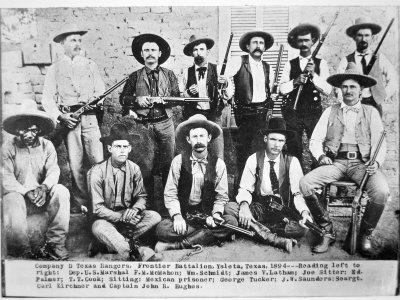 Company D Texas Rangers at Ysleta, Texas, 1894