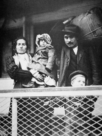 Migrant Italian Family on the Ferry from Ellis Island to New York City, 1905