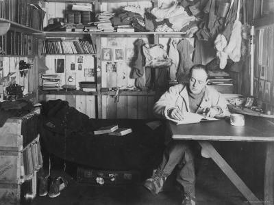 Captain Scott in His Den at Winter Quarters, During the Terra Nova Expedition