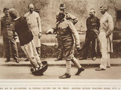 The Noble Art of Self Defence, Austrian Officers Practising Boxing