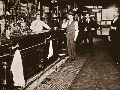 Steve Brodie in His Bar, the New York City Tavern