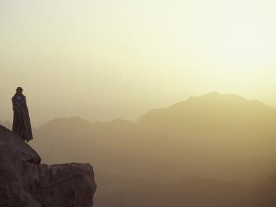 Morning Light on Moses' Mountain Pilgrim, Egypt
