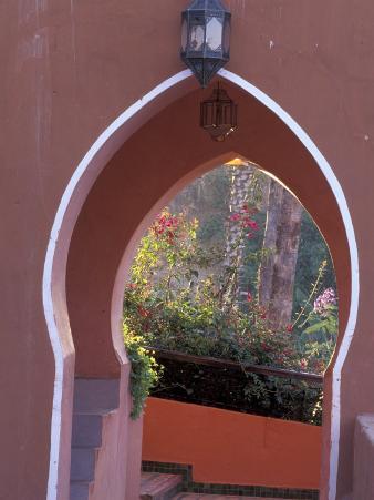Arched Door and Garden, Morocco