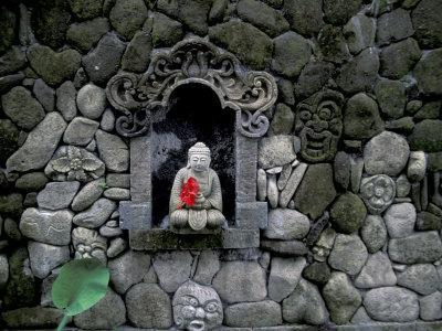 Shrine of Buddha with Flower Decoration, Bali, Indonesia