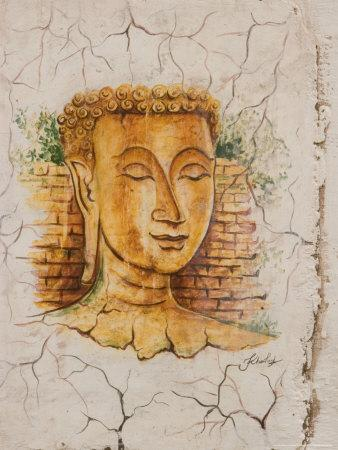 Buddha Image Painted on a Grave, Wat Si Saket, Vientiane, Laos