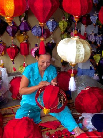 Woman Making Lanterns, Saigon, Vietnam