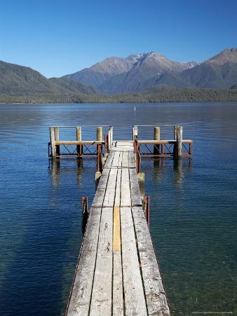 Jetty, Lake Te Anau, Fjordland, South Island, New Zealand