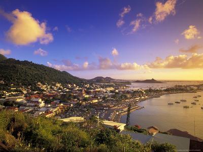 Sunset View of Marigot from Ft Louis, St. Martin, Caribbean
