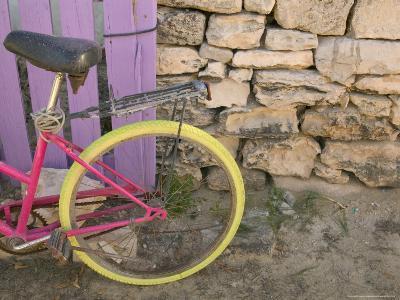 Colorful Bicycle on Salt Cay Island, Turks and Caicos, Caribbean