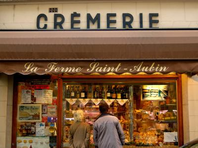 Couple Window Shopping at Cremerie, Paris, France