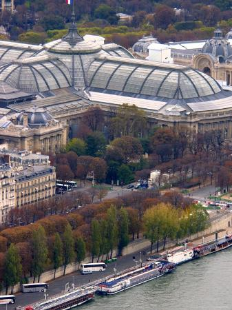 View of Grand Palais from Eiffel Tower, Paris, France