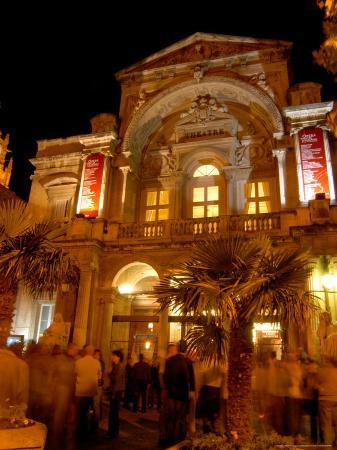 Opera Theatre at Night, Avignon, Provence, France