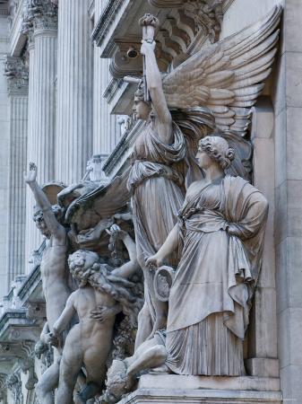 Statue Detail of the Opera Garnier, Opera, Paris, France