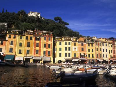 Colorful Buildings with Boats in the Harbor, Portofino, Italy