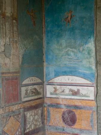 Painted Frescoes, Pompei, Campania, Italy